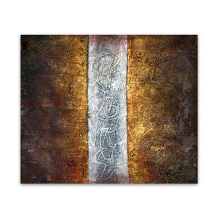Highway   Gold Wall Artwork & Abstract Oil Paintings For Sale