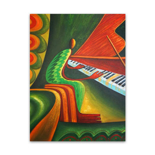 Melody | Abstract Wall Prints & Oil Canvas Art for Greeting Visitors