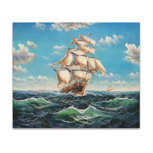 Voyage | Boating Canvas Art Prints Hand Painted Online