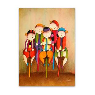 Bike Race | Cute Kiddie Wall Art & Paintings for Sale Online
