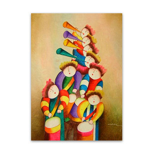 Hark the Herald | Indoor Wall Art & Hand Paintings for Young at Heart