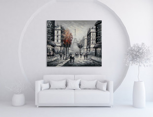 Paris Art Canvas on the wall