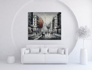 Paris Art Canvas on the wall