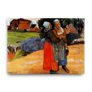 Paul Gaugin   Two Breton Women on the Road