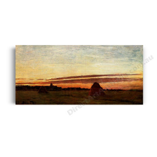 Monet | Grainstacks at Chailly at Sunrise