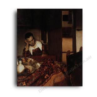 Jan Vermeer   A Woman Asleep at a Table