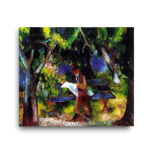 August Macke   Man Reading in the Park