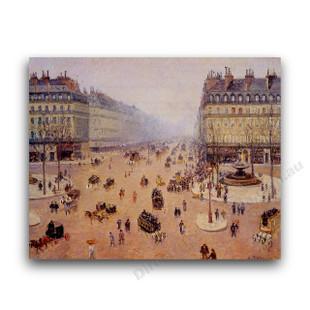 Camille Pissarro   Avenue de l'Opera, Misty Weather