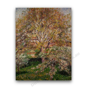 Camille Pissarro   The Walnut and Apple Trees in Bloom at Eragny