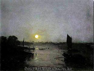 J.W.Turner   Moonlight, a Study at Millbank