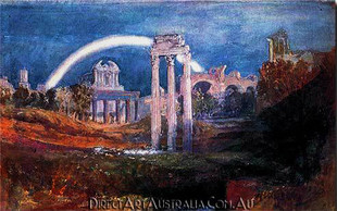 J.W.Turner   The Forum with a Rainbow