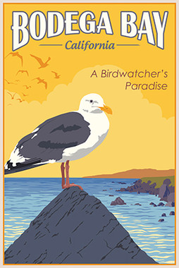 Bodega Bay California Bird Vintage