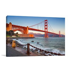 golden gate bridge wall canvas print home art decor. Black Bedroom Furniture Sets. Home Design Ideas