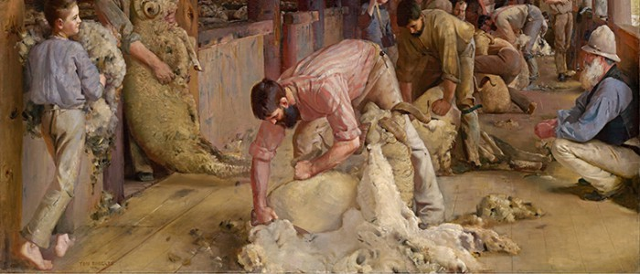 Shearing the Rams -  Tom Roberts Oil Paintings Prints Online