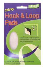 Ultratape Self Adhesive Hook & Loop Pads