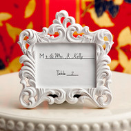100 White Baroque Place Card Holder Frame Favors