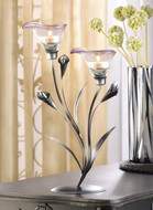 10 Pewter Calla Lily Tea Light Wedding Centerpieces
