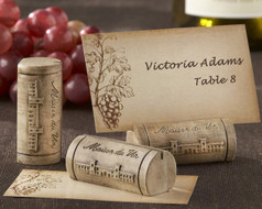 "96 ""Maison du Vin"" Wine Cork Wedding Place Card Holders"
