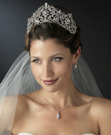 "Regal 2 1/2"" High Rhinestone Wedding or Quinceanera Tiara - sale!"