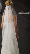 "40"" Angel Cut Bridal Veil with Angel Dust Illusion"