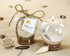 48 Sand And Shell Beach Wedding Tea Light Holder