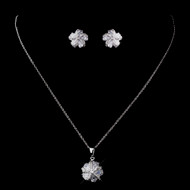 5 Sets Cubic Zirconia Flower Bridesmaid Jewelry