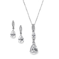 5 Sets Mariell CZ Pear 2030S Bridesmaid Jewelry
