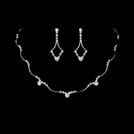 5 Sets Silver Rhinestone Bridesmaid Jewelry 343