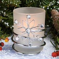 60 Snowflake Winter Wonderland Wedding Candle Votives