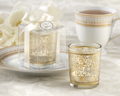 "96 ""Golden Renaissance"" Tealight Holders Wedding Favors"