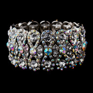 AB Crystal Bowtie Bridal Stretch Bracelet