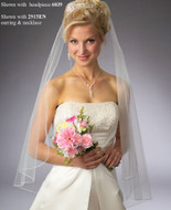 JL Johnson Bridal Angel Cut Fingertip Veil - Many Colors!