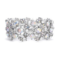 Antique Silver AB Crystal Bridal Bracelet