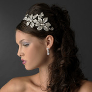 Vintage Inspired Floral Butterfly Bridal Headband - sale!