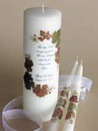 "Autumn Theme ""This Day"" Unity Wedding Candle Set"