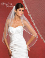 Beautifully Beaded Edge Symphony Bridal Veil 5913VL