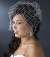Birdcage Veil with Scattered Rhinestones
