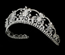 Black Swarovski Crystal Bridal and Quince Tiara
