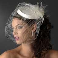 Chic Vintage Look Bridal Hat with Birdcage Veil - sale!