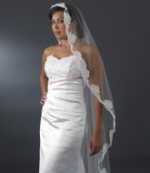 Cathedral Length Beaded Lace Mantilla Bridal Veil