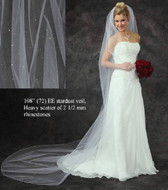 Cathedral Length Rhinestone Stardust Wedding Veil