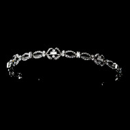 Chic Antique Silver Vintage Inspired Wedding Headband