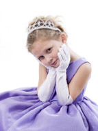 Child's Satin Elbow Length Gloves - choice of 5 Colors