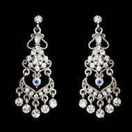 Dazzling Rhinestone Chandelier Bridal Earrings