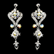 Clear and AB Rhinestone Chandelier Earrings