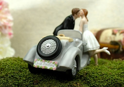Classic Car I'll Love U 4 Ever Wedding Cake Topper