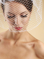 "14"" Long Chin Length Birdcage Vintage Style Wedding Veil"