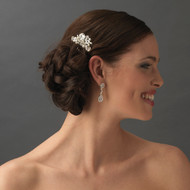 Couture Rhinestone and Pearl Petite Bridal Comb