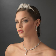 Couture Wedding Tiara and CZ Jewelry Set