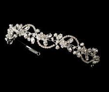 Crystal and Pearl Floral Tiara Bridal Headband
